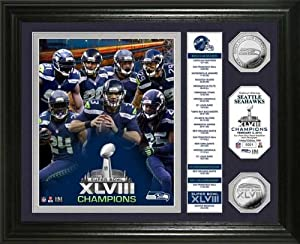 Seattle Seahawks - Super Bowl 48 XLVIII - Players - Stats - Framed Photo Picture by Laminated Visuals