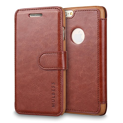 "iPhone 6 Custodia - Mulbess [Card Slot Vintage Series] iPhone 6 4.7"" Wallet Case [Coffee Marrone] - Custodia In Pelle Con carta di credito Portafoglio Per Apple iPhone 6 4.7 Pollice"