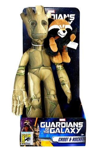 Marvel Guardians of the Galaxy Groot & Rocket Racoon Exclusive Plush Figure