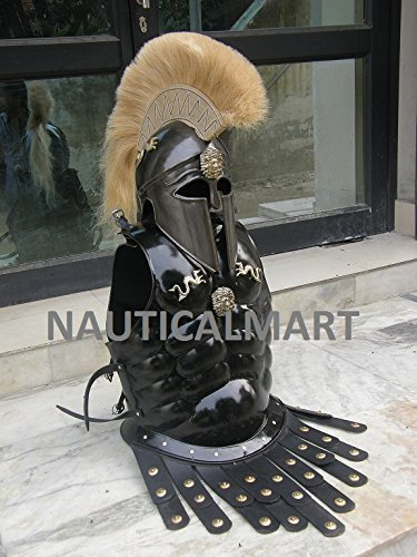 Cheapest Prices! GREEK CORINTHIAN HELMET WITH MUSCLE ARMOR IN BLACK ANTIQUE