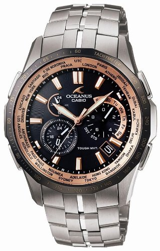 CASIO (カシオ) 腕時計 OCEANUS Manta オシアナス マンタ タフソーラー電波時計 タフムーブメント MULTIBAND 6 マルチバンド 6 OCW-S1400B-1AJF メンズ