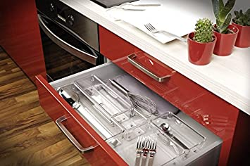 Interdesign linus slim rangement de de tiroir de for Rangement couverts tiroir cuisine