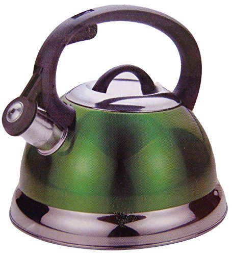 Kitchenworks 2.5 Qt Whistling Tea Kettle in Green