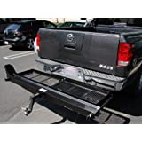 TMS® 1000 Lb Heavy Duty Motorcycle Scooter Dirt Bike Hauler Rack Carrier with Cargo Basket and Loading Ramp
