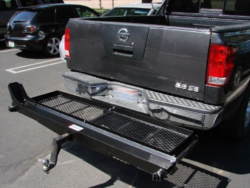 1000 Lb Heavy Duty Motorcycle Scooter Dirt Bike Hauler Rack Carrier With Cargo Basket And Loading Ramp front-878648