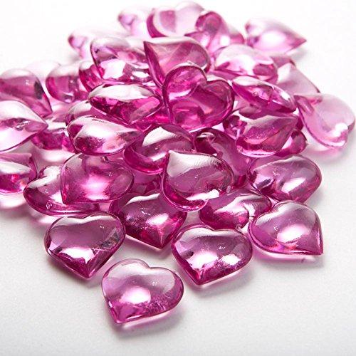 Fuchsia Heart Gems