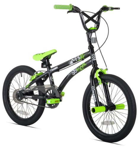 X-Games-FS-18-BMXFreestyle-Bicycle-18-Inch-BlackGreen