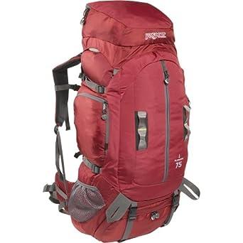JanSport Klamath 75 Basecamp Series Backpack, Red Curtain