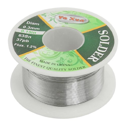 Solid Solder 0.3mm Dia Flux Core 63% Tin 37%