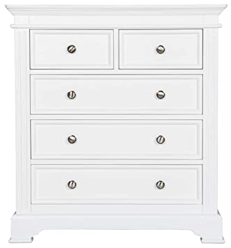 Ultimum Royal Elegance White 2 Over 3 Chest of Drawers