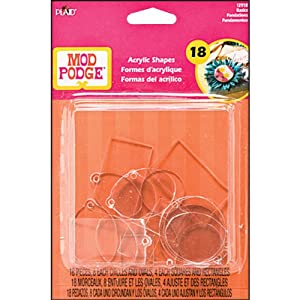 Plaid Mod Podge 12918 Acrylic Shapes, Basics, Flat and Charm