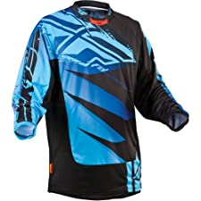 Fly Racing Kinetic Inversion Youth Boys MX/Off-Road/Dirt Bike Motorcycle Jersey - Blue/Black / Large