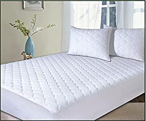 Classic Linens Polycotton Quilted Extra Deep Mattress Protector King by Classic Linens