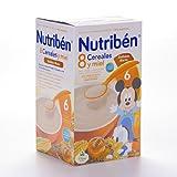 Nutribén - Papilla 8 Cereales con Miel y Galletas Nutribén 600 gr