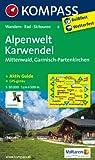 Alpenwelt Karwendel - Mittenwald - Garmisch-Partenkirchen: Wanderkarte mit Tourenführer, Radrouten und Skitouren. GPS-genau. 1:50000