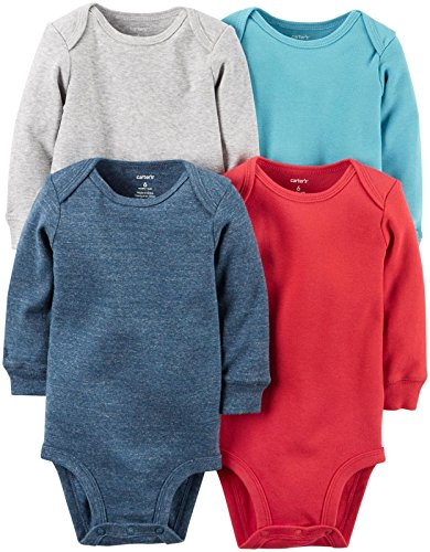 Carter's Baby Boys Multi-Pack Bodysuits, Assorted, 3 Months