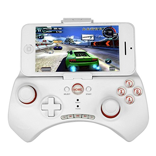 Allnice® White Pg-9025 Wireless Bluetooth 3.0 Android Game Controller Gamepad Joystick For Iphone 4 5 / Ipod / Ipad 3 4 5 Air / Samsung Note 2 3 S3 S4 Lg Sony Nokia / Ios Tablet Pc