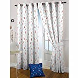 The Kids Decor (5 ft x 7 ft) One Premium Music Notes Print Cotton Curtain