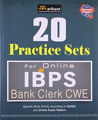 20 Practice Sets for Online IBPS Bank Clerk CWE (Common Written Examination) (Old Edition)