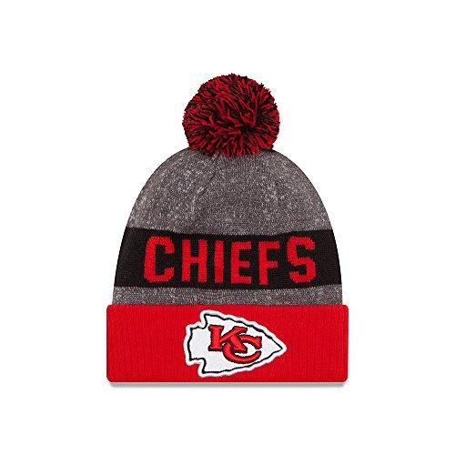 Kansas City Chiefs New Era 2016 NFL Sideline On Field Sport Knit Hat - Red Cuff