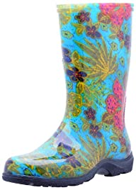 """Sloggers  Women's Rain and Garden Boot with """"All-Day-Comfort"""" Insole, Midsummer Blue Print – Wo's…"""