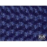 Minky Rosebud NAVY BLUE Fabric By the Yard