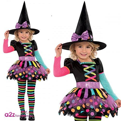 Déguisement sorcière coloré fille Halloween
