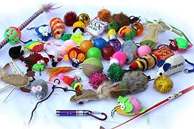 Cat Kitten Toys Small Fur Mice Bells Balls With Catnip Bulk Pack X 10 Items