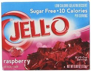 Jell-o Sugar-free Gelatin Dessert Raspberry 06 Oz