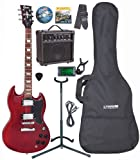 Encore EBP-E69CR Elec. Guitar Outfit - Cherry Red