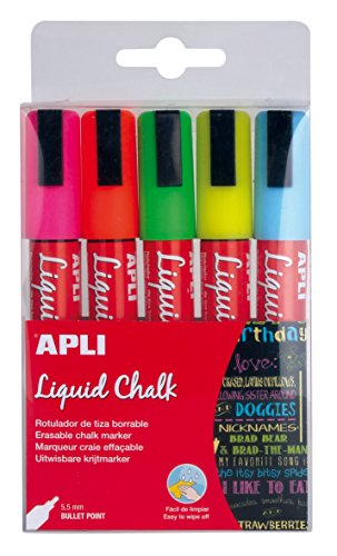 apli-13959-caja-con-5-rotuladores-de-tiza-liquida