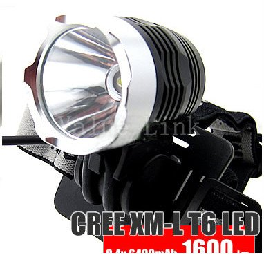 CREE XML XM-L T6 1600 Lumen LED Cycle Bicycle Lamp Bike Light HeadLamp Headlight