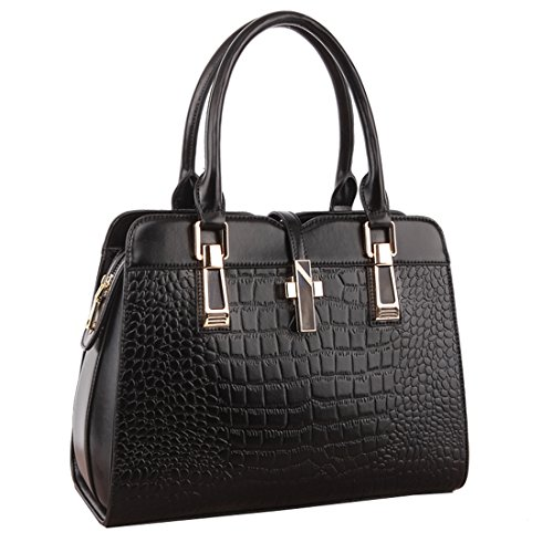 Missmay Women's 2015 Luxury Genuine Leather Purse Handbag Metal Decor Satchel