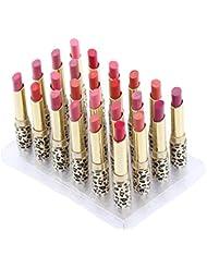 Abody 12 Colors 24pcs Leopard Print Lipsticks Moisturizing...