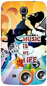 PrintVisa 3D-SGMEGA6.3-D8054 Quotes Music Case Cover for Samsung Galaxy Mega 6.3 I9200