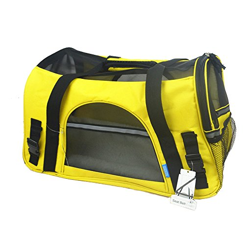 Jh Pet Carrier Purse Bags Airline Approved Soft for Dogs/cats (Large, Sunshine Yellow)