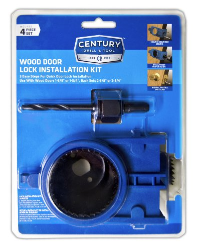 Wood Door Lock Installation Kit : Century drill and tool carbon alloy hole saw wood
