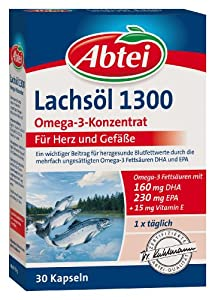 Abtei 37341 Omega Lachsöl 1300, 30 Kapseln