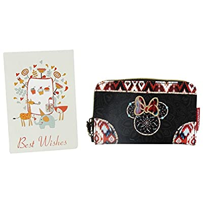 Disney Minnie Boho Portefeuille Pour Femme Porte-Monnaie Cartes Pochette N