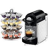 Nespresso C60 Pixie Chrome Espresso Machine with Bonus 40 Capsule Carousel