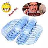 Mouth Openers for Watch Ya' Mouth Game,LEDeng 20pcs C-Shape BlueTeeth Whitening Intraoral Cheek Lip Retractor Mouth Opener for Hilarious, Mouth Guard Party Game ,M Size
