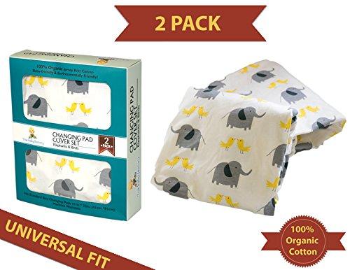 super-plush-infant-changing-pad-cover-set-2-pack-100-organic-cotton-unisex-boy-girl-design-animals-w