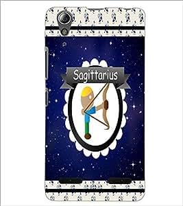 PrintDhaba Zodiac Sagittarius D-2763 Back Case Cover for LENOVO A6000 PLUS (Multi-Coloured)