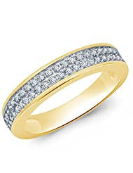 Eldora 18 Kt Gold Plated With American Diamond Ring For Women(PRG00028-A)