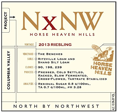 2013 Nxnw Horse Heaven Hills Riesling 750 Ml