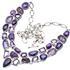 Ana Silver Co Charoite, Amethyst 925 Sterling Silver Signature Necklace 20 5/8