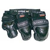 Silver Fox(シルバーフォックス) SP202 3点パットセット Mサイズ(エルボー・ニー・リストガード)