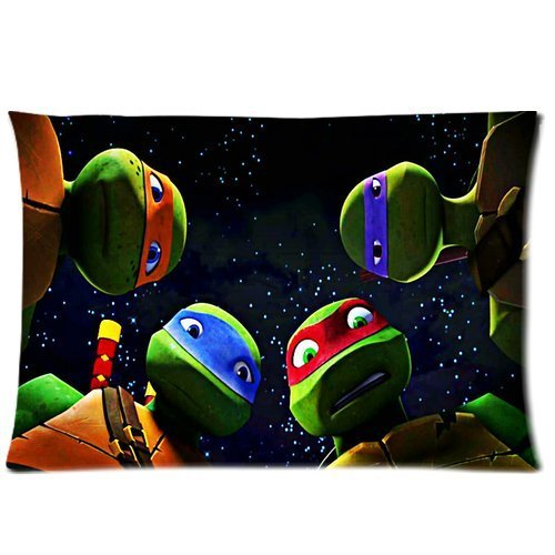 Generic Custom Tmnt Teenage Mutant Ninja Turtles Printed Zippered Pillowcase Cushion Cover 20*30(One Side) front-986362