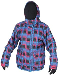 Billabong Pure Women's Snow Jacket - Flash Plaid, X-Small