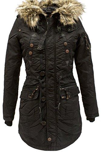 KHUJO Nylon Vintage Long-Jacke Claire